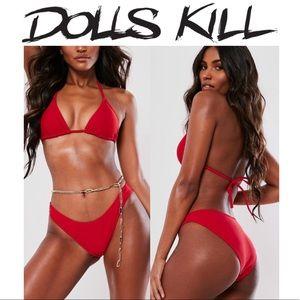 Dolls kill bikini set🍒&FREE GIFT 🎁